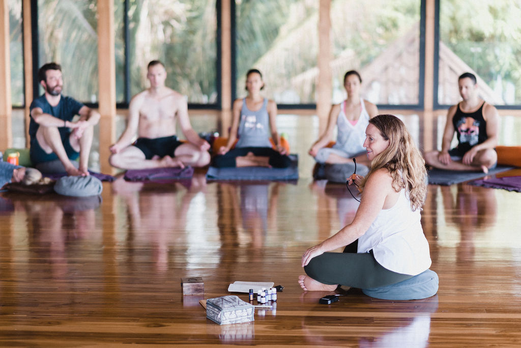 Jeanette Sealy teaching Yoga Therapy