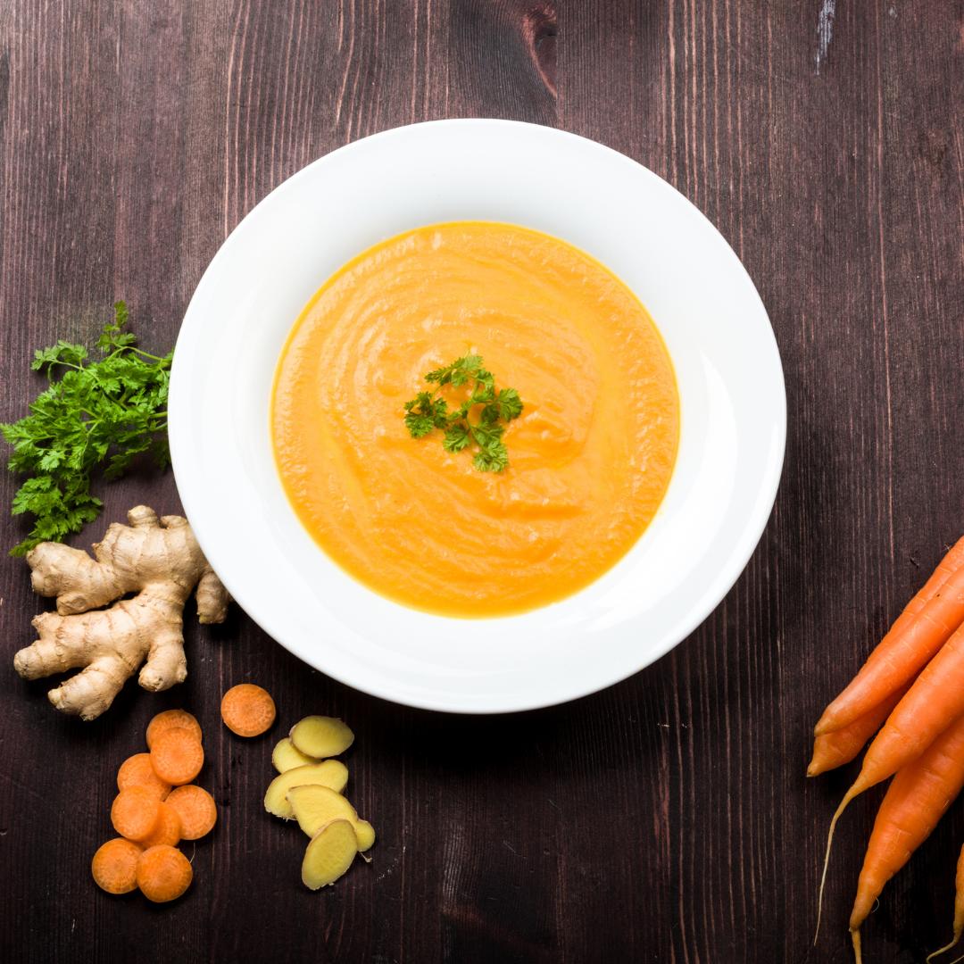 Ayurvedic carrot ginger soup recipe